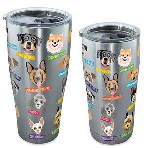 Tervis® Flat Art Dog Breed Tumbler with Lid SS